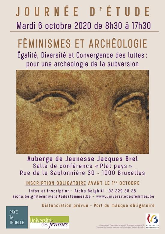 affiche journée d'étude Feminismes et archéologie
